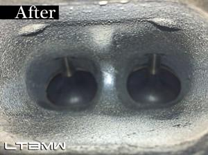 Intake valve after carbon build up removal.