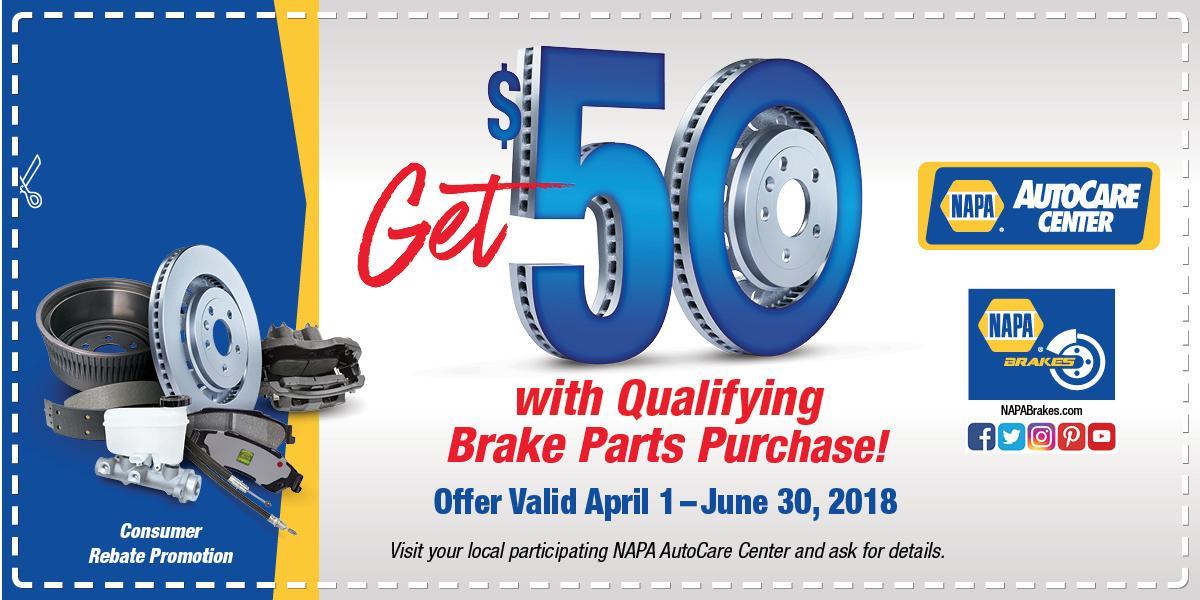 NAPA Brake Rebate 5.18
